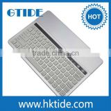 Silver color KB651 Aluminum cover bluetooth keyboard for android tablet hebrew letter