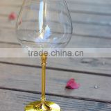 Glassware Manufacturer Handmade copper goblet gold wine glass bottle 250ml for beverage for home party