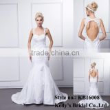 kb16008 wolesale latest sexy design sweetheart sleeveless backless wedding mermaid dress / bridemaid dress