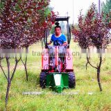 Mini garden tractor, TAIAN DY620 mini wheel loader with grass cutter for sale