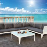 "Newly developed white garden aluminum outdoor L-Shaped ""Aegean Sea"" Sectional Sofa Set"