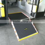 CE certificated customized Folding Manual Bus Wheelchair Ramp with 350kg loading for wheelchairs