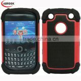 Hot selling robot style mesh texture holster combo cell phone case for Blackberry 9320