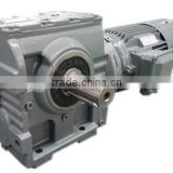 China GUOMAO S Series Foot and Flange Mounted Helical-Worm gearbox ac motor for conveyor