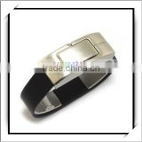 USB Flash Drive Black Bracelet Leather 32GB