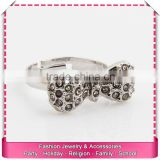 Best quality imitate sliver knot ring, hot sale adjustable sterling silver rings