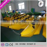 Best quality For 4 Persons 0.9mm PVC Material Inflatable Banana Boat