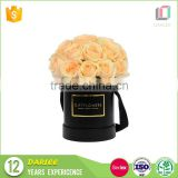 Newest design high quality luxurious round flower hat box for valentines