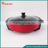 Non Stick Skillet Electric Frying Pan Temperature Control Thermostat Glass Lid