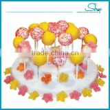 New design shenzhen guangdong wholesale kitchen LFGB plasitc display pop supplies cake stand