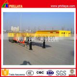 Heavy commercial vehicles 3 axles container transport skeleton semi trailer with twist lock