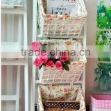 new wooden rack with set of 3 basket,wooden storage furniture