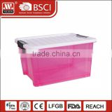 2016 best selling 12L30L40L50L70L stackable organizer box large storage bin plastic storage container with lid