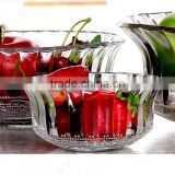 9inch,7inch, 5inch and 4inch Clear Glass Fruit or Salad Bowl