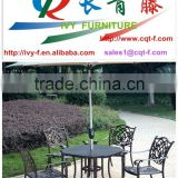 factory custom made aluminum casting outdoor leisure garden chair and table furniture in China