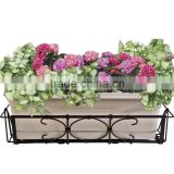 Fashion dsign iron basket holder hanging metal flower pot stand