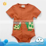 SR-244B animal printed plain baby romper custom bodysuits soft cotton baby clothes infant clothing