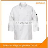 White long sleeve jacket/French chef work clothes/chef cook uniform