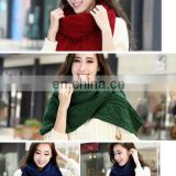 Wholoesale Knitting Woolen Yarn Hand Craft Braided Oblong Scarves Twist Knitting Scarf Women Fashion Scarves