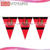 paper Disposable Decoration Party Flag Wholesale portugal car window flag with plastic pole
