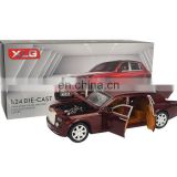 Auto open the door simulation pull back 1:24 Rolls-Royce diecast car model with light and sound