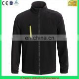 Men's black waterproof & windstopper zipper up zip softshell jacket(6 Years Alibaba Experience)