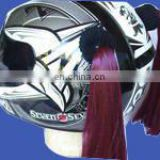 Fashion customized Motorcycle pigtails/pony tail Helmet avaliable with different colours