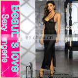 Sexy shining dotted bra mesh gown hot sexy nighty