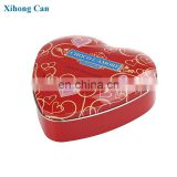 Vintage Heart Shape Tin Box, Perfect For chocolate decor , Cookie Tin Heart Shape for girlfriend gift