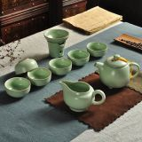 A complete set of household ceramic Kung Fu tea sets
