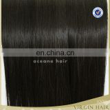 China wholesale soft thick double drawn weft tangel free no chemical grade 7a virgin hair sew in hair extensions