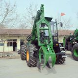 4 wheels sugarcane grab loader in stock with Cummins