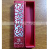 Hollow Red Laser Cut Flowers Wedding Favor Chocolate Candy Box                                                                         Quality Choice