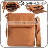 Wholesale High Quality Custom Logo 16A Canvas mix Genuine Leather Tablet PC Bag Handbag Shoulder Bags
