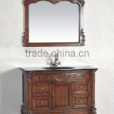 European style antique bathroom cabinet oak board