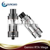 Dual sdjustable airflow structure Vaporesso RTA Mega atomizer 4.0ml vs Gemini RTA 2016