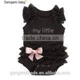 New Arrival my little black dress lace baby romper baby girls plain cute rompers