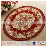 Handmade pretty luxuly design jacquard design flower shaped rug