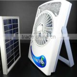 solar fans,solar fan,solar rechargeable emergency cooling fan with battery and LED light