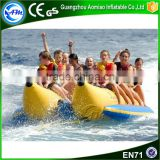 Hot sale inflatable banana boat, inflatable floating banana boat, inflatable boat fishing for water park