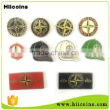 Gold tone wholesale custom new products promotional gifts island stone lapel pin badge                                                                         Quality Choice
