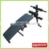 standard home using curved sit up bench with dumbbells weight bench board body training machine equipment