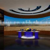High quality SMD LED trip indoor curved flexible led display/P7.62mm led tv background