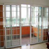 america style balcony sliding door double sliding door with double track Bahrain market design