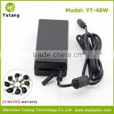 Notebook 48w charging battery charger manual adjustment DC voltage with 7 led indicate