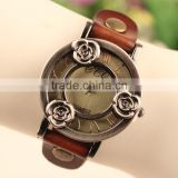 New Arrival Fashion Accessories Style Leather Wrap China Punk Watch