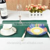 vinyl placemats wholesale/cheap placemats/woven pvc placemats for restaurants