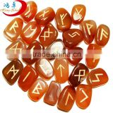 engraved reiki healing tumbled stone rune set for home decor