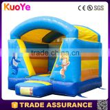 high quality 0.55mm PVC tarpaulin ocean theme inflatable bouncer,inflatable jumping trampoline for sale