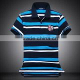 Design new products custom men's cotton striped polo shirt                                                                         Quality Choice